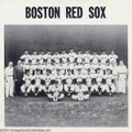 Baseball Collectibles:Publications, 1959,1962 Boston Red Sox Team Photo and Publications (3) ... (3items)