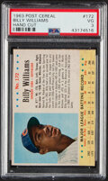 Baseball Cards:Singles (1960-1969), 1963 Post Cereal Billy Williams (Hand Cut) #172 PSA VG 3.