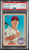 Baseball Cards:Singles (1970-Now), 2017 Topps Heritage Mike Trout #450 PSA Gem Mint 10.