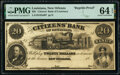Obsoletes By State:Louisiana, New Orleans, LA- Citizens' Bank of Louisiana $20 18__ G32a RP Reprint Proof PMG Choice Uncirculated 64 EPQ.. ...