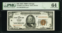 Fr. 1880-G $50 1929 Federal Reserve Bank Note. PMG Choice Uncirculated 64