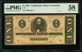Confederate Notes:1864 Issues, T71 $1 1864 PF-4 Cr. 577 PMG Choice About Unc 58.. ...