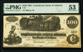 Confederate Notes:1862 Issues, T39 $100 1862 PF-5 Cr. 290 PMG About Uncirculated 53.. ...