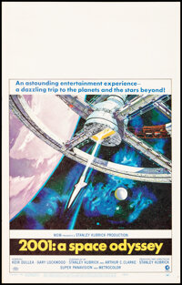 """2001: A Space Odyssey (MGM, 1968). Very Fine+. Window Card (14"""" X 22"""") Robert McCall Artwork. Science Fiction..."""