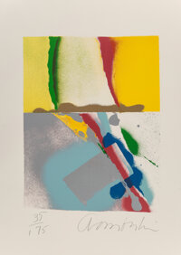 John Chamberlain (1927-2011) Flashback III, from Flashback, 1979 Screenprint in colors on Arches paper 28 x 20 in