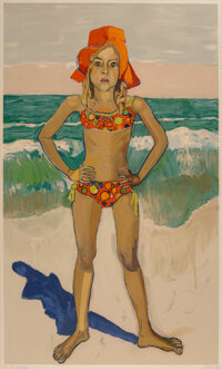 Alice Neel (1900-1984) Bather (Olivia with Red Hat), 1982 Lithograph in colors on Arches paper 43-1/4 x 27 inches (10