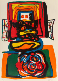 Karel Appel (1921-2006) Dutch Apple, 1968 Lithograph in colors on wove paper 28 x 20 inches (71.1 x 50.8 cm) (image)