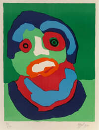 Karel Appel (1921-2006) Looking Like Green, 1970 Lithograph in colors on wove paper 26 x 20 inches (66 x 50.8 cm) (im