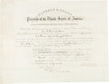 Autographs:U.S. Presidents, Ulysses S. Grant Signed Appointment. ...