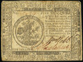 Colonial Notes:Continental Congress Issues, Continental Currency February 17, 1776 $5 Very Fine.. ...