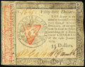 Continental Currency January 14, 1779 $55 About New