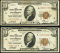 Small Size:Federal Reserve Bank Notes, Fr. 1860-L $10 1929 Federal Reserve Bank Notes. Two Examples. Very Fine; Fine-Very Fine.. ... (Total: 2 notes)