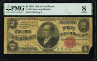 Fr. 245 $2 1891 Silver Certificate PMG Very Good 8
