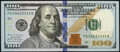 Small Size:Federal Reserve Notes, Fancy Serial Number 00633333 Fr. 2189-D $100 2017A Federal Reserve Note. Crisp Uncirculated.. ...