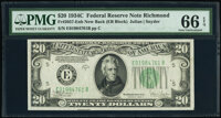Fr. 2057-E $20 1934C New Back Federal Reserve Note. PMG Gem Uncirculated 66 EPQ