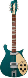 Musical Instruments:Electric Guitars, 2004 Rickenbacker 660/12 Turquoise Solid Body Electric Guitar, Serial #04 26904.. ...
