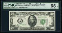 Fr. 2057-A $20 1934C Old Back Federal Reserve Note. PMG Gem Uncirculated 65 EPQ