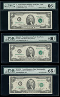 Small Size:Federal Reserve Notes, Fr. 1935-B (2); I (3); J $2 1976 Federal Reserve Notes. PMG Gem Uncirculated 66 EPQ (4); Choice Uncirculated 63 EPQ (2).. ... (Total: 6 notes)