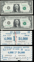 Label Set Fr. 1907-H $1 1969D Federal Reserve Notes About Uncirculated. ... (Total: 4 items)