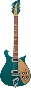 Musical Instruments:Electric Guitars, 2002 Rickenbacker 620 Turquoise Semi-Hollow Body Electric Guitar, Serial #02 19130.. ...