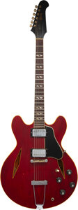 Musical Instruments:Electric Guitars, 1968 Gibson Trini Lopez Cherry Semi-Hollow Body Electric Guitar, Serial #330323.. ...