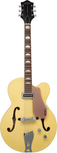 Musical Instruments:Electric Guitars, 1956 Gretsch 6189 Streamliner Bamboo Yellow Archtop Electric Guitar, Serial #17827.. ...