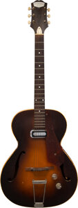 Musical Instruments:Electric Guitars, circa 1957 Epiphone Harry Volpe Sunburst Archtop Electric ...
