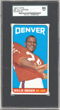 Football Cards:Singles (1960-1969), Football 1965 TOPPS WILLIE BROWN #46 NM+ SGC 86. This ...