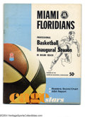 Basketball Collectibles:Programs, 1968-69 Miami Floridians ABA Programs (2) Offered in this ... (2items)