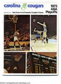 Basketball Collectibles:Programs, 1972-75 ABA Playoff Programs Offered in this lot are three ... (3items)