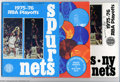 Basketball Collectibles:Programs, 1975-76 New York Nets ABA Playoff Programs Offered here ... (3items)