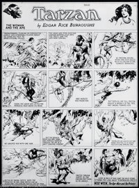 Hal Foster - Original Art for Tarzan Sunday dated 4-2-33 (United Features Syndicate, 1933). A fine draftsman and a gifte...