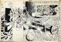 Original Comic Art:Splash Pages, Ross Andru and Dick Giordano - Original Art Double Splash Page forAtari Force Graphic Novel (DC, mid 1980s). This appears t...