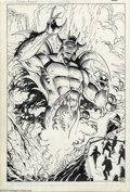 "Original Comic Art:Splash Pages, Ross Andru and Denis Rodier - Original Art for Batman Annual #12,pages 35 and 36 (DC, 1988). Page 35, from the story ""Slade..."