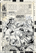 Original Comic Art:Covers, Werner Roth and Herb Trimpe (attributed) - Original Cover Art forKid Colt Outlaw #138 (Marvel, 1968). Kid Colt shoots the w...