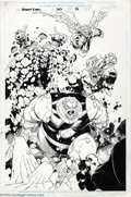 Original Comic Art:Splash Pages, Chris Bachalo, Art Thibert, and Tim Townsend - Original Splash Page Art for Uncanny X-Men #363, page 16 (Marvel, 1999). The ...
