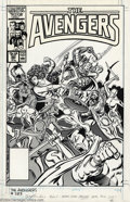 Original Comic Art:Covers, John Buscema and Tom Palmer - Original Cover Art for The Avengers#283 (Marvel, 1987). The fabled art team of John Buscema a...