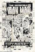 Original Comic Art:Covers, Sal Buscema - Original Cover Art for Iron Man #33 (Marvel, 1971).Nick Fury, Jasper Sitwell, and Tony Stark, all appear on t...