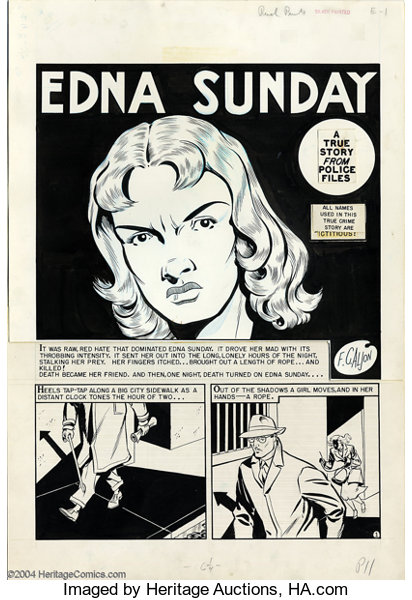 Johnny Craig and Al Feldstein - Original Art for Crime Patrol #13