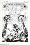 Original Comic Art:Covers, Dan Day and Ron Harris - Original Cover Art for Aztec Ace #9(Eclipse, 1985). The dimension-hopping hero from the 23rd Centu...