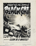 Original Comic Art:Covers, Lee Elias - Original Cover Art for Black Cat Mystery #49 (Harvey,1953). Not content to just frighten the bejeebers out of u...