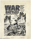 Original Comic Art:Covers, Lee Elias - Original Cover Art for War Battles #8 (Harvey, 1953).Ever feel trapped in a circle with no hope of escape? Ever...