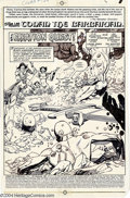 Original Comic Art:Splash Pages, Gil Kane - Original Splash Page Art for Conan the Barbarian #129,page 1 (Marvel, 1981). Gil Kane inks his own pencils in bl...