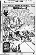 Original Comic Art:Panel Pages, Gil Kane and Tom Palmer - Original Cover Art for The Tomb ofDracula #37 (Marvel, 1975 ). Dracula is frozen in the high-beam...