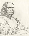 Original Comic Art:Sketches, Jack Kirby - Original Illustration of Darius Drumm/Darkseid (undated). In the early 1980s, when Jack Kirby was preparing his...