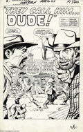 Original Comic Art:Splash Pages, Jack Kirby and Paul Reinman - Original Art Splash Page for GunsmokeWestern #77, page 1 (Marvel, 1963). As the Marvel Age of...