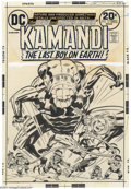 Original Comic Art:Covers, Jack Kirby and Mike Royer - Original Cover Art for Kamandi #12 (DC,1973). In this topsy-turvy world, the brave but impetuou...