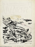 Original Comic Art:Covers, Jack Kirby - Original Cover Art for Warfront (Harvey, circa 1952).Jack Kirby served in the Infantry as a Scout, earning a B...