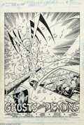 Original Comic Art:Splash Pages, Rob Liefeld and Karl Kessel - Original Art for Hawk and Dove #1,page 5 (DC, 1988). Fan-favorite Rob Liefeld pencils this dr...
