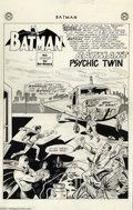 "Original Comic Art:Splash Pages, Sheldon Moldoff and Charles Paris - Original Art for Batman #155,page 1 (DC, 1963). This title splash page for ""Batman's Ps..."